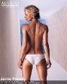 Jaime Pressly posing topless for Maxim