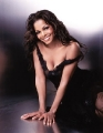 Janet Jackson in black sexy dress