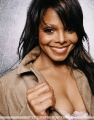 Janet Jackson in sexy jacket with pretty neckline
