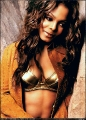 Janet Jackson wearing golden lingerie