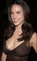 Jennifer Connelly simles wearing sexy dress with nice neckline