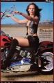 Jennifer Garner posing on Harley Davidson