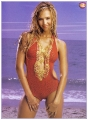 Jessica Alba posing in glamorous swimming suite