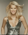 Jessica Simpson in fantastic golden dress