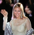 Jewel Kilcher wearing hot transparent dress