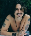 Johnny Depp posing sexy
