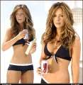 Kate Beckinsale drinking coke in bikini