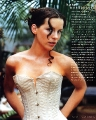 Kate Beckinsale posing in sexy corset