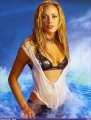 Kristanna Loken posing in hot lingerie in the water