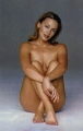 Kylie Minogue posing nude