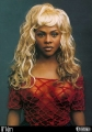 Lil Kim posing in hot transparent dress