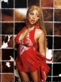 Lil Kim wearing red hot chili dress