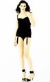 Liv Tyler posing in black lingerie