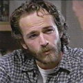 Luke Perry posing hot