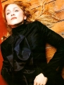 Madonna wearing black beautiful dress