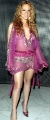 Maria Carrey wearing violet transparent dress