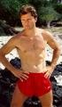 Maxwell Caulfield posing shirtless