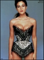 Monica Bellucci posing in hot tight corset