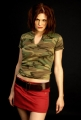 Morgan Webb wearing cammo hot dress