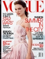 Natalie Portman posing on the Vogue cover
