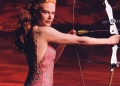 Nicole Kidman shooting the bow