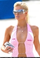 Paris Hilton wearing pink hot dress