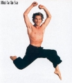Patrick Swayze posing shirtless