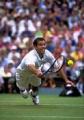 Pete Sampras playing tennis