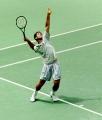 Pete Sampras looks hot playing tennis
