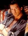 Pierce Brosnan posing sexy
