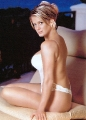 Rachel Hunter posing in gorgious white lingerie