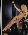 Sable posing in chain made lingerie