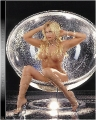 Sable posing topless in giant transparent sphere