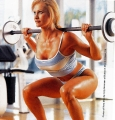 Hot Sable training on the gym