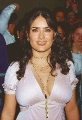 Salma Hayek wearing hot dress with plunging neckline