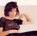 Sandra Bullock wearing black hot transparent blouse