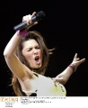 Shania Twain getting wild on the concert