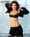 Shania Twain wearing black hot lingerie