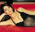 Shania Twain posing in black hot lingerie