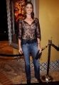 Shannon Elizabeth dressed in hot black transparent blouse