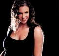 Stephanie McMahon wearing hot sexy black shimmy