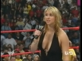 Stephanie McMahon on the WWE Ring