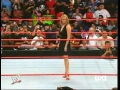 Stephanie McMahon posing on the ring