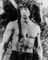 Shirtless Rambo Sylvester Stallone looks hot