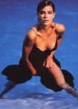 Teri Hatcher posing in wet hot lingerie inside swimming pool