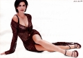 Teri Hatcher posing in hot transparent dress with sexy neckline