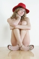 Trishelle Cannatella posing nude wearing red hat