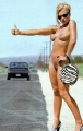 Naked Jaime Pressly as a hitchhiker