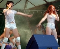 TATU wearing wet hot blouses singing on concert