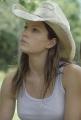 Jessica Biel posing in cowboy hat
